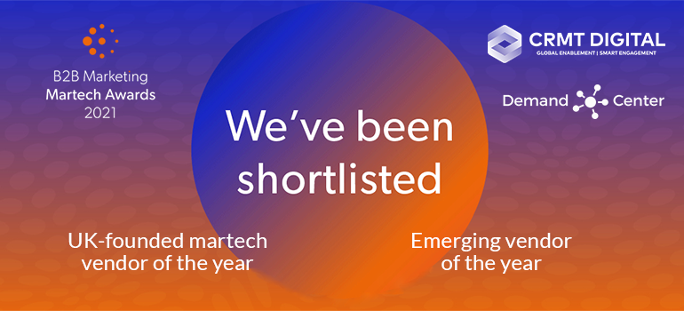 B2B MarketingMarTech Awards: We've Been Shortlisted!